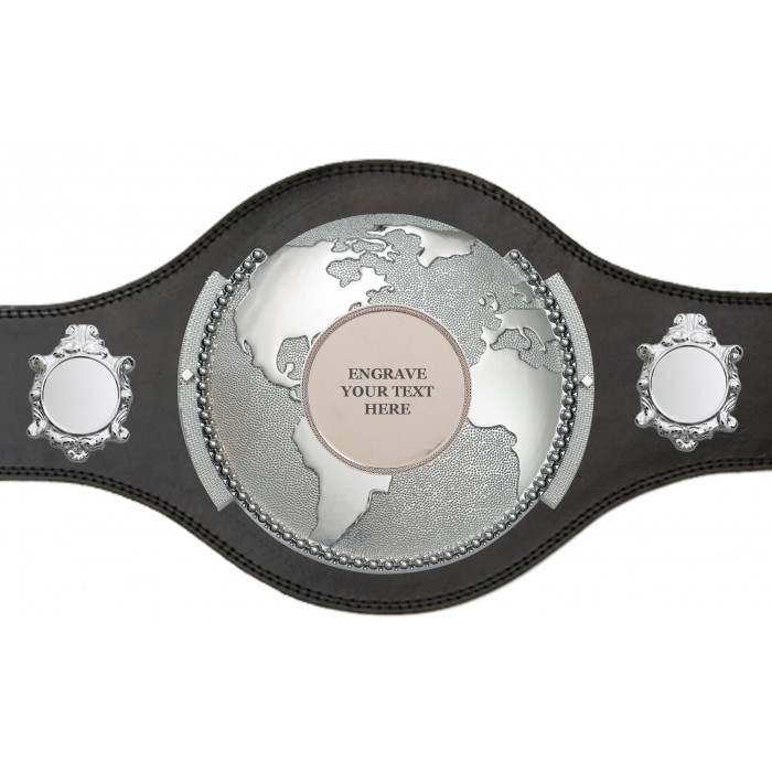 WORLD TITLE BELT - ENGRAVED - PLT309/S/BLGENGRAVE